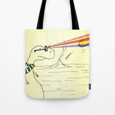 Hipster Laser Dinosaur Tote Bag