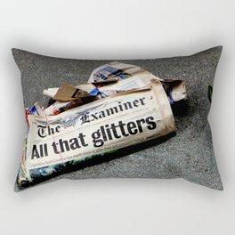 All That Glittered Rectangular Pillow