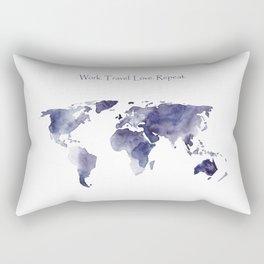 Work. Travel. Love. Repeat Rectangular Pillow