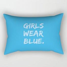 Girls Wear Blue Rectangular Pillow