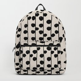 Dots / Black & White Pattern Backpack