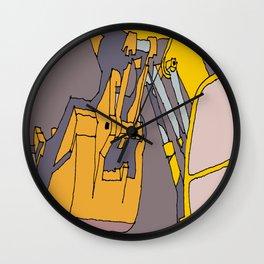 Machine Work Backhoe Wall Clock