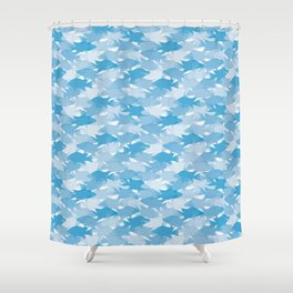 Jason's Blue Hogfish Camo Shower Curtain