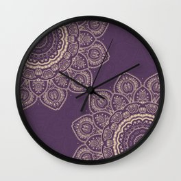 Lavender Tulips Wall Clock