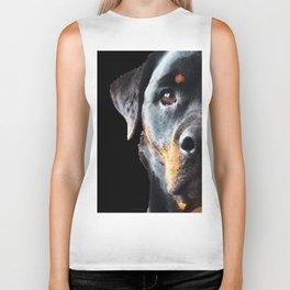 Rottie Love - Rottweiler Art By Sharon Cummings Biker Tank