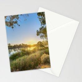 River Sunrise Stationery Cards