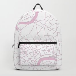 London White on Pink Street Map Backpack