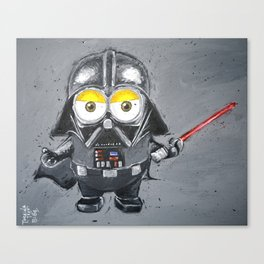 Darth Vader minion style Canvas Print