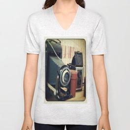 Thrift Store Camera Unisex V-Neck