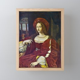 Joanna of Aragon by Raphael Framed Mini Art Print