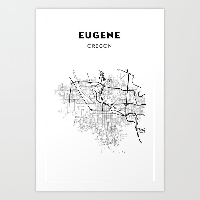 on map of eugene