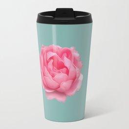 Rose on mint Travel Mug