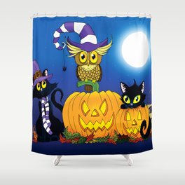Halloween Trio Shower Curtain
