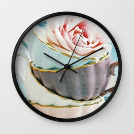 cups water Wall Clock