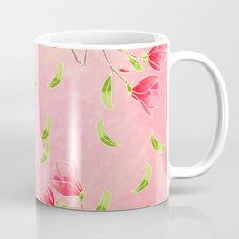 magnolia flowers on pink background Coffee Mug