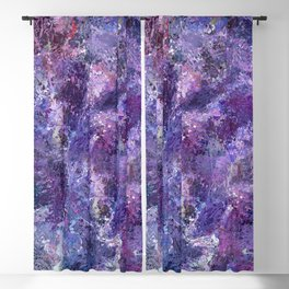 Violet drip abstraction Blackout Curtain