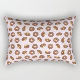 Chocolate Donuts on Pink Rectangular Pillow