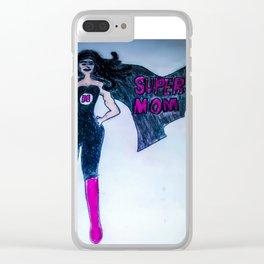 super mom Clear iPhone Case