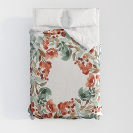 Rust and Blue Duvet Cover