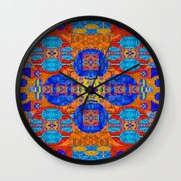 Vibrant Rug Motif Quilt Design Wall Clock