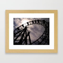 Ferris Wheel of Vienna Framed Art Print