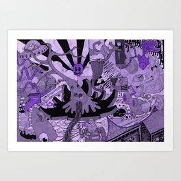 Contemporary Death Jazz Art Print