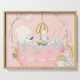 Teddy Bears Picnic (Pink) Serving Tray