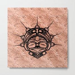 Ink Frog Copper Metal Print