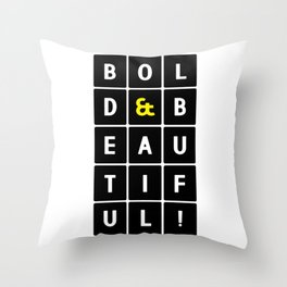 bold and beautiful 3by5 single Throw Pillow