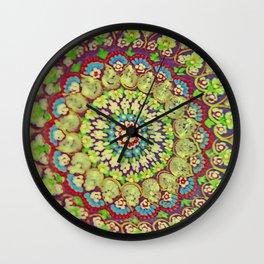 Mandala on copper plate 4 Wall Clock