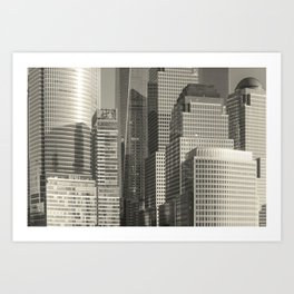"""Urban Angles #1 in Gold"" by Murray Bolesta Art Print"