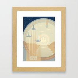 Ships of the Force Awakens Framed Art Print