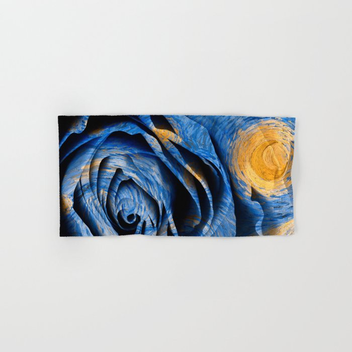 Starry Night Rose Hand & Bath Towel