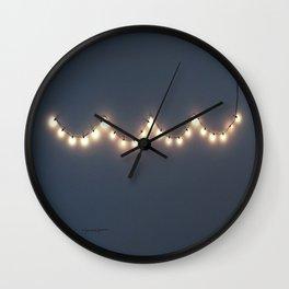 Hangin' lights Wall Clock