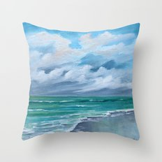 Clouds and Clouds Seascape Throw Pillow