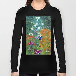 Gustav Klimt Flower Garden Long Sleeve T-shirt