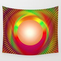 shining Wall Tapestries featuring SHINING PEARL by Michelito