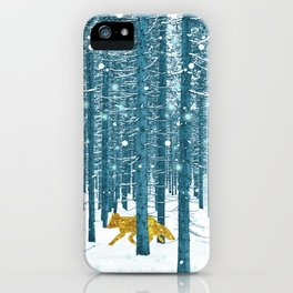 A Golden Fox In The Wild iPhone Case