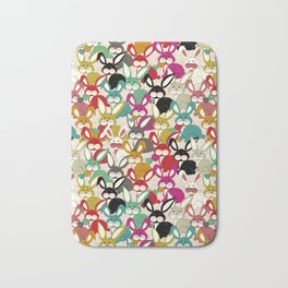 Colored  Easter bunny seamless pattern Bath Mat