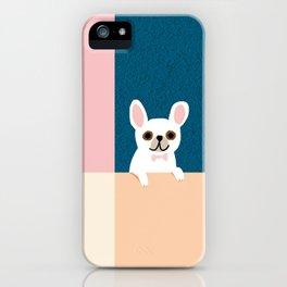 Little_French_Bulldog_Love_Minimalism_001 iPhone Case