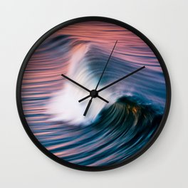Sunrise Surf HB Pier 9/12/15  (Pk) Wall Clock