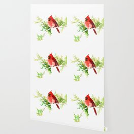 Cardinal Bird, stet birds decor design cardinal bird lover gift Wallpaper