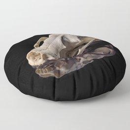 Raccoon Skull Reflection Floor Pillow