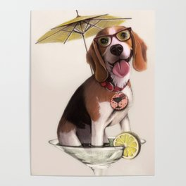 Tessi the party Beagle Poster