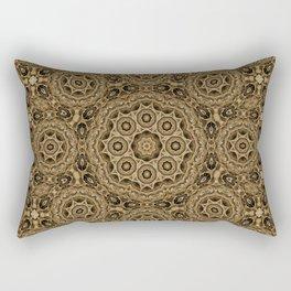 Mosaic tiles in brown Rectangular Pillow