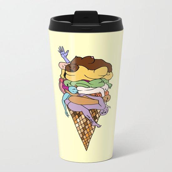 Human Ice Cream Metal Travel Mug