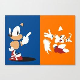 Minimal Sonic & Tails Canvas Print