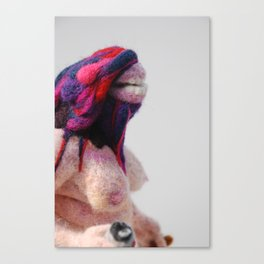 Footloose and Fancy Free, felted Canvas Print