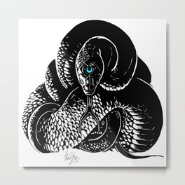 Snake Meditation Metal Print