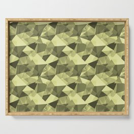 Abstract Geometrical Triangle Patterns 4 VA Lime Green - Lime Mousse - Bright Cactus Green - Celery Serving Tray